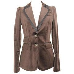 Dolce & Gabbana Brown Velvet Blazer Jacket 1990s