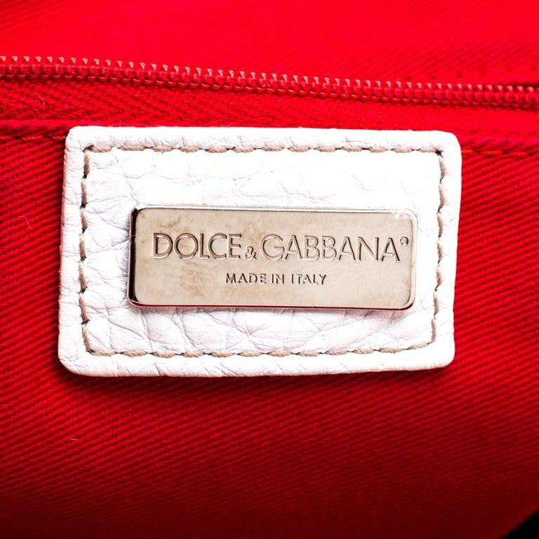 Women's Dolce & Gabbana Brown/White Calfhair and Leather Satchel For Sale