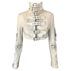 Dolce & Gabbana S/S 2003 Runway Bondage Buckle Cropped Leather Jacket