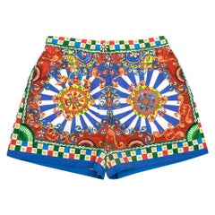 Dolce & Gabbana Carretto Printed Shorts IT 44