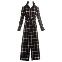 Dolce & Gabbana checked wool maxi coat, fw 1995