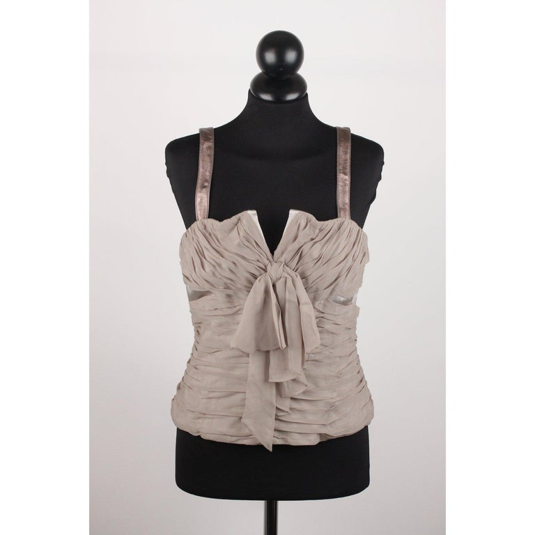 Dolce & Gabbana Corset Bustier Top Size 42 For Sale 4