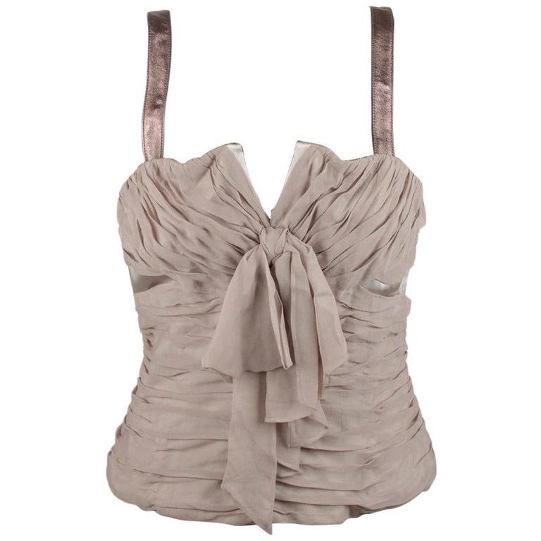 Dolce & Gabbana Corset Bustier Top Size 42 For Sale