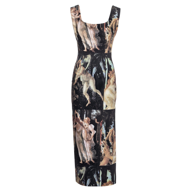 Dolce & Gabbana cotton sheath dress with renaissance print, ss 1993
