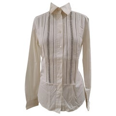 Dolce & Gabbana couture silk swarovski stones shirt