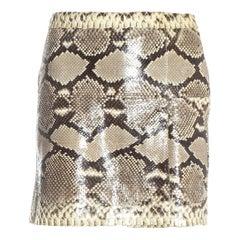 Dolce & Gabbana cream python mini skirt, ss 2005