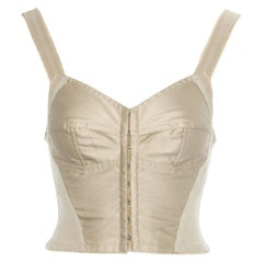 Dolce & Gabbana cream satin and spandex cropped corset, ss 1994
