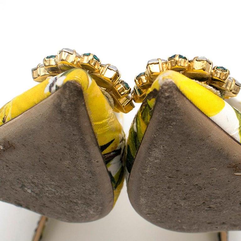 Dolce & Gabbana Crystal Embellished Lemon Pumps 39 For Sale 4
