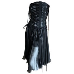 Dolce & Gabbana Daring Lace Up Corset Dress New with Tags $3295 Size 44
