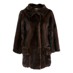 Dolce & Gabbana Dark Brown Mink Fur Coat XS 36