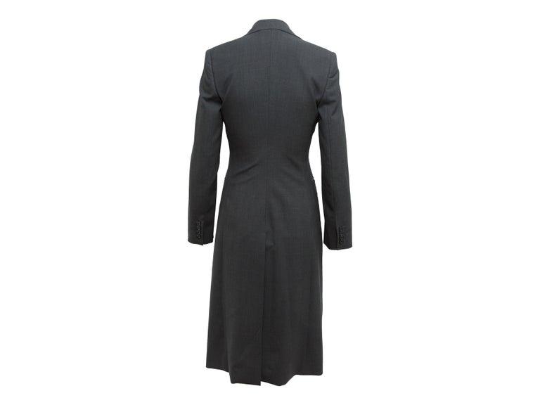 Dolce & Gabbana Dark Grey Virgin Wool Coat In Good Condition For Sale In New York, NY