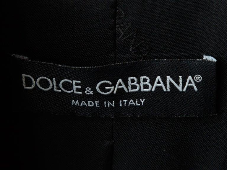 Women's Dolce & Gabbana Dark Grey Virgin Wool Coat For Sale