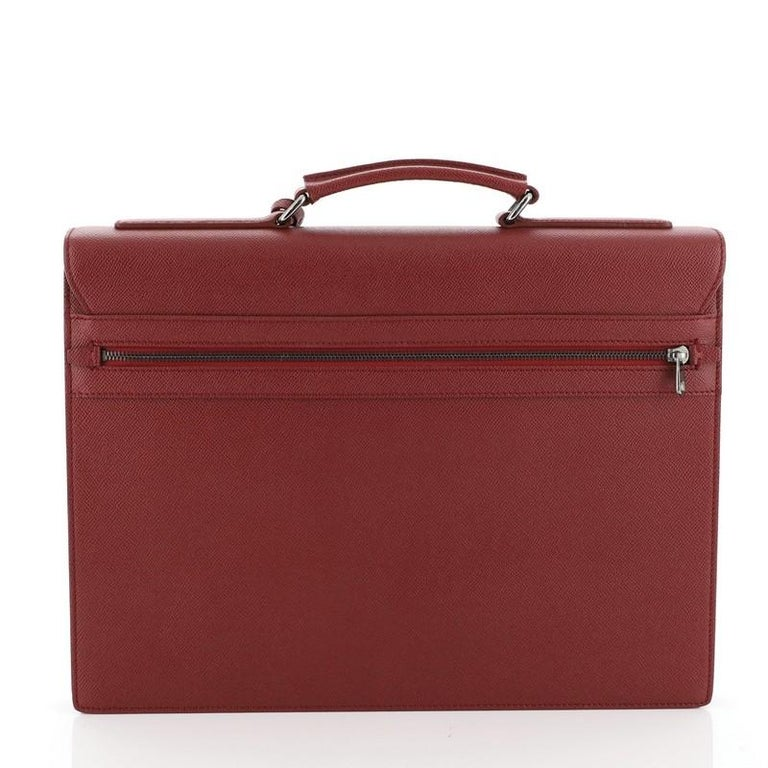 Brown Dolce & Gabbana Dauphine Briefcase Leather  For Sale
