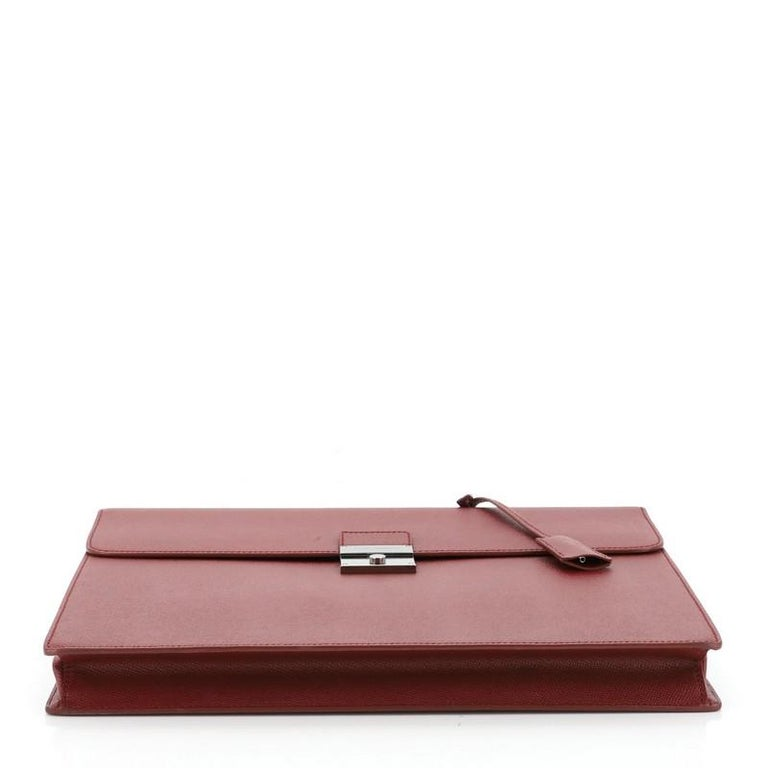 Dolce & Gabbana Dauphine Briefcase Leather  In Good Condition For Sale In New York, NY