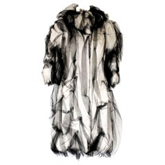 Dolce & Gabbana Demi-Couture Evening Tulle Alpaca Fur Coat