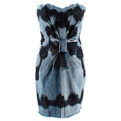 Dolce & Gabbana Denim & Lace Mini Dress US 0-2