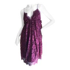 Dolce & Gabbana D&G Dark Pink Lace Baby Doll Dress