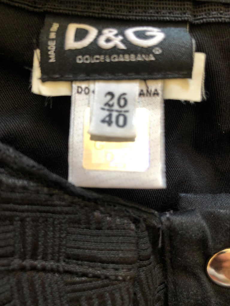 Dolce & Gabbana D&G Vintage Black Bondage Strap Corset Top 3
