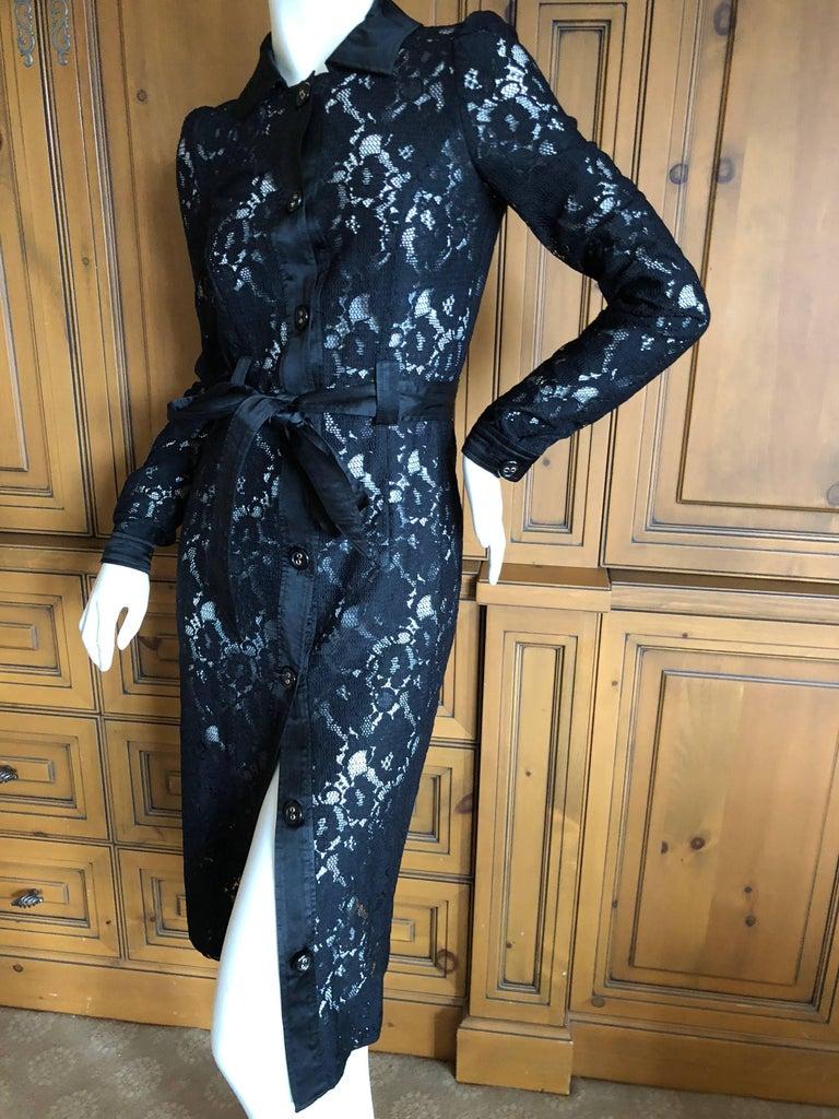 Women's Dolce & Gabbana D&G Vintage Sheer Lace Shirt Dress