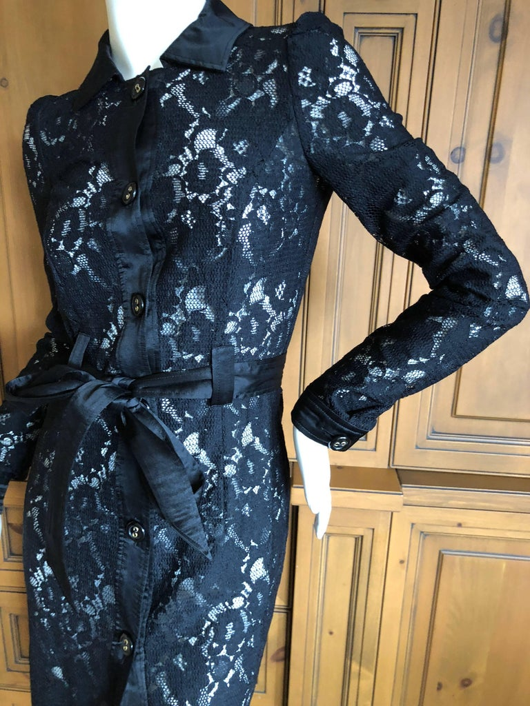 Dolce & Gabbana D&G Vintage Sheer Lace Shirt Dress  1