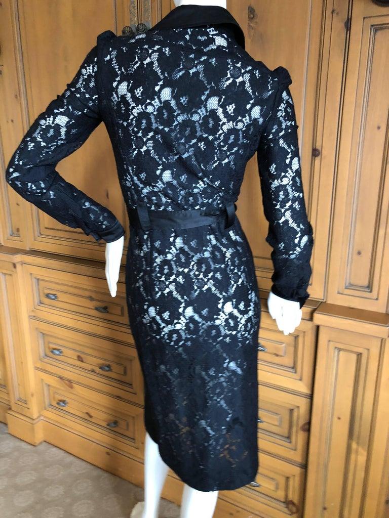 Dolce & Gabbana D&G Vintage Sheer Lace Shirt Dress  2