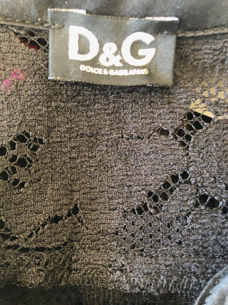 Dolce & Gabbana D&G Vintage Sheer Lace Shirt Dress  3