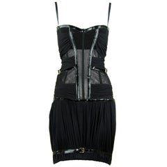 Dolce & Gabbana Dolce & Gabbana Bondage Black Corseted Mini Dress - Size IT 42