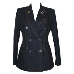 Dolce & Gabbana Double Breasted Denim Blazer