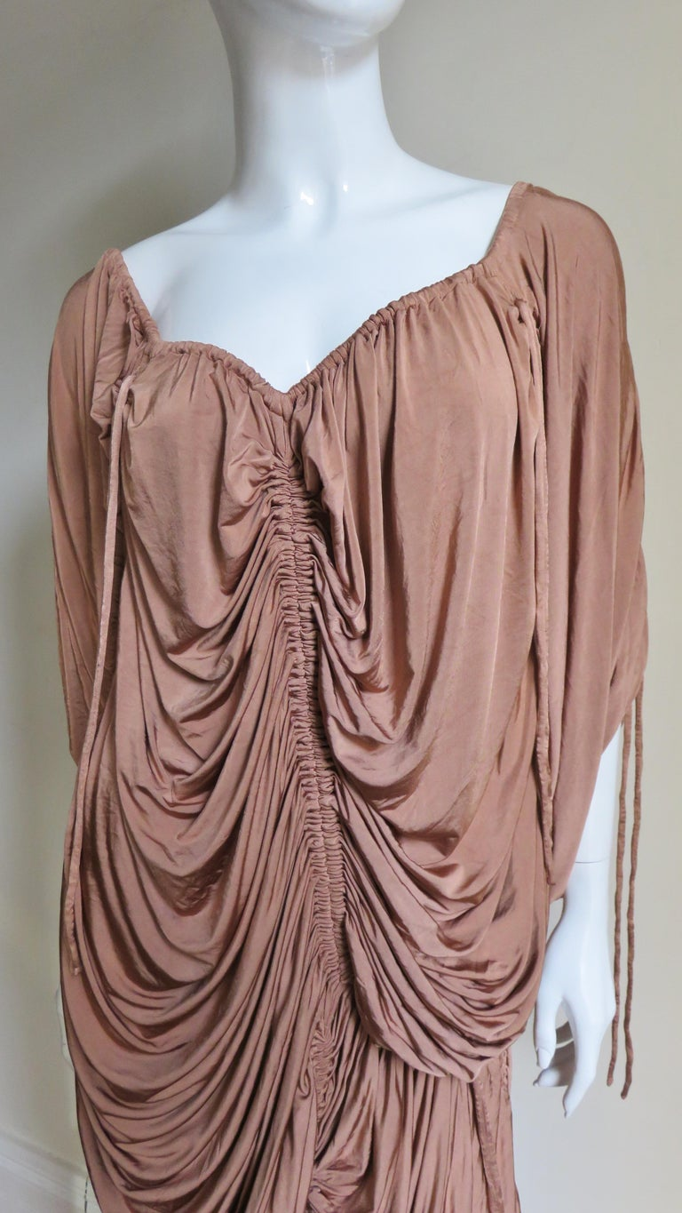 Dolce & Gabbana Drawstring Drape Dress In Good Condition For Sale In New York, NY