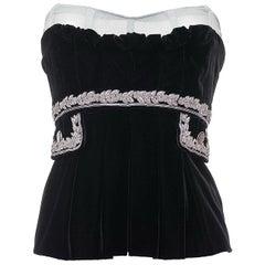 Dolce & Gabbana Embellished Black Velvet Corset