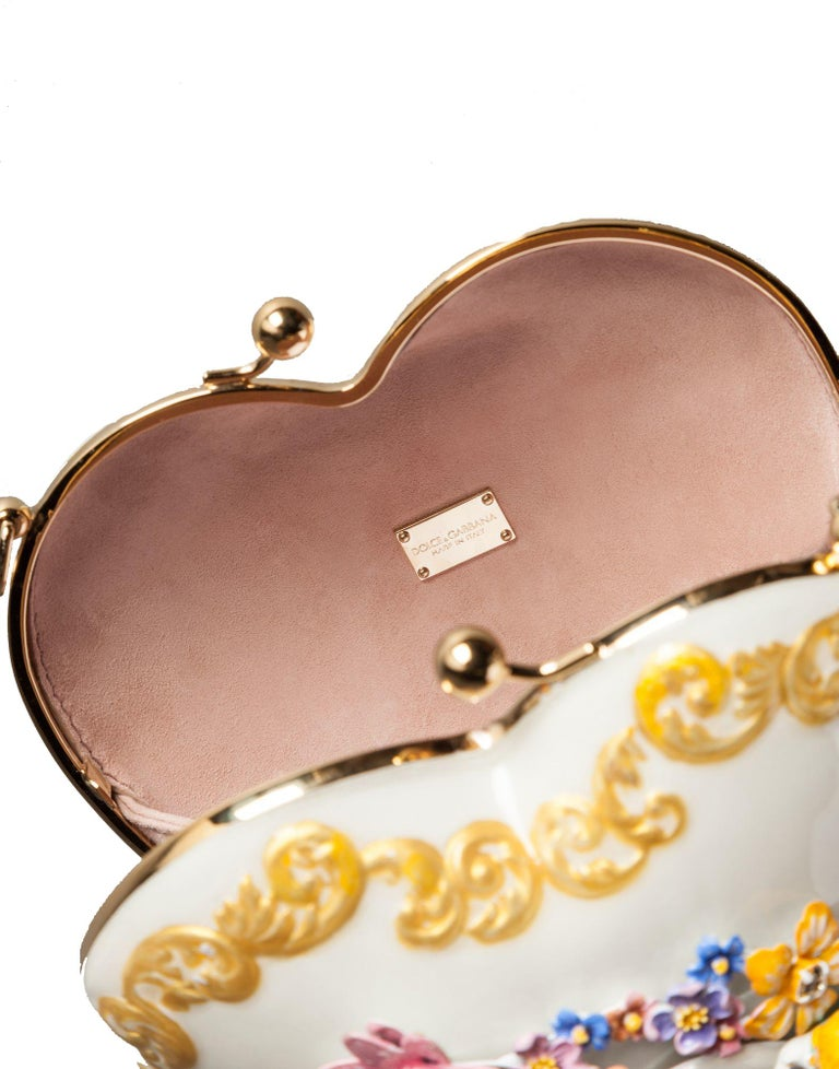 Dolce & Gabbana Enameled Metal Sacred Heart Minaudiere For Sale 5