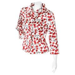 Dolce & Gabbana Fall 1996 Cherry Print Jacket
