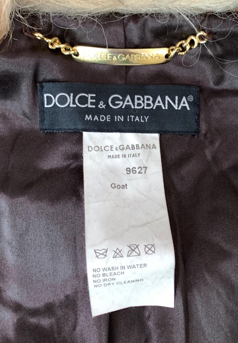 Dolce & Gabbana Fall 2001 Embellished Leather Coat For Sale 7