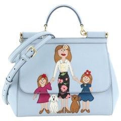 Dolce & Gabbana Family Miss Sicily Bag Patchwork Leather Medium