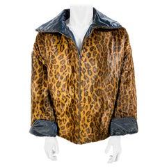 Dolce & Gabbana Faux Cheetah Fur Reversible Jacket