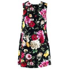 Dolce & Gabbana Floral Brocade Cocoon Coat & Sleeveless Dress - Size US 4