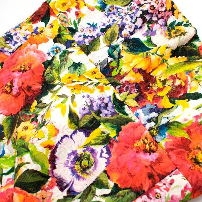 Dolce & Gabbana floral-brocade strapless mini dress M 44 For Sale 1