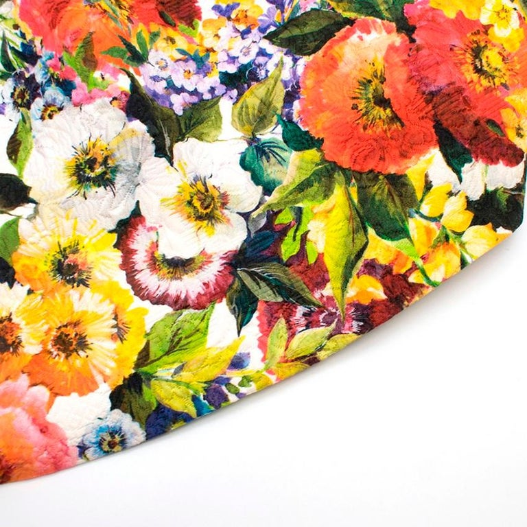 Dolce & Gabbana floral-brocade strapless mini dress M 44 For Sale 2