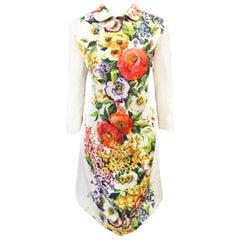 Dolce & Gabbana Floral Print Quilted Jacquard Coat  46 EU