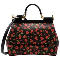 Dolce & Gabbana Floral Print Sicily Bag