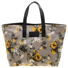 Dolce & Gabbana Floral Printed Canvas and Leather Tote