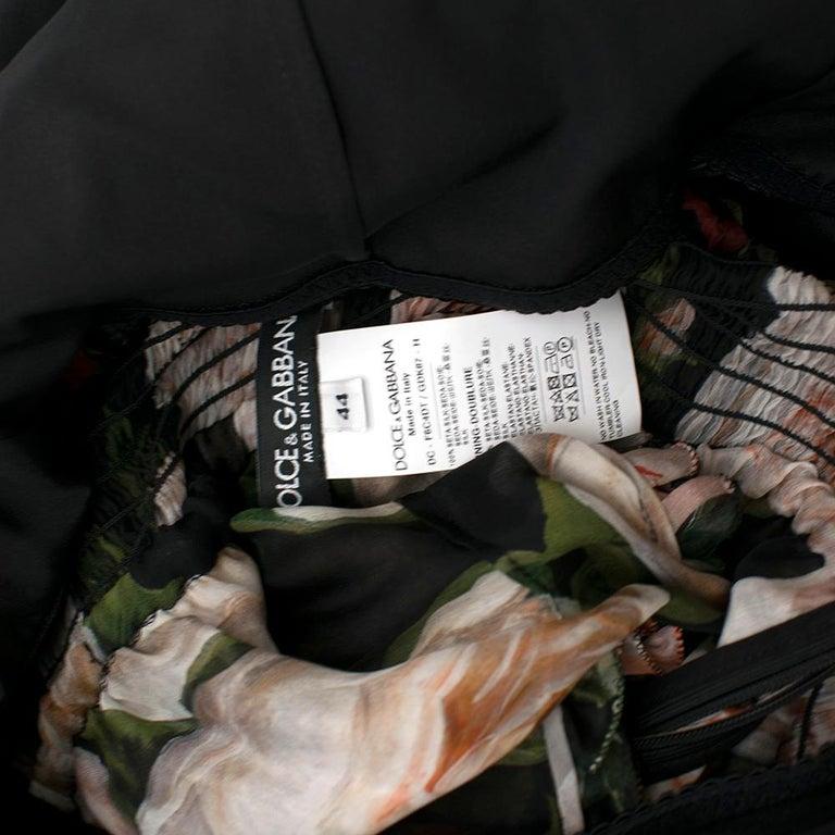 Dolce & Gabbana Floral Silk Chiffon Tiered Dress - US8 / IT44 For Sale 3