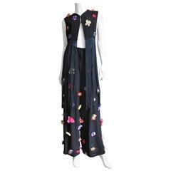 Dolce & Gabbana Flower Applique Fringe Top and Pants