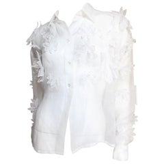 Dolce & Gabbana Flower Applique Silk Shirt