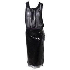 Dolce & Gabbana for D&G dresse Sheer Seductive Sequin LBD, 1990