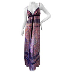 Dolce & Gabbana for D&G Sheer Silk Paisley Print Vintage Cocktail Dress