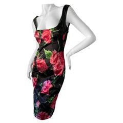 Dolce & Gabbana for D&G Vintage Floral Cocktail Dress