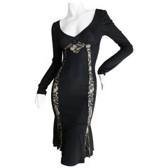 Dolce & Gabbana for D&G Vintage Little Black Dress with Lace Inserts