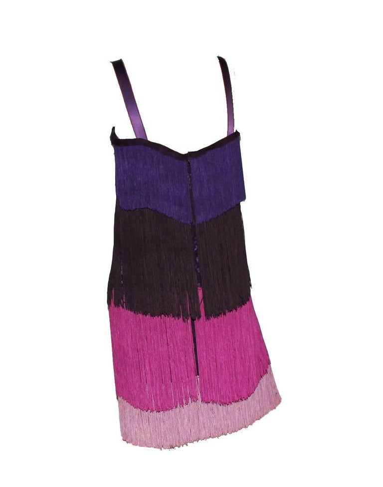 Dolce & Gabbana Fringe & Lace Flapper Dress in