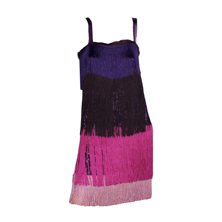 """Dolce & Gabbana Fringe & Lace Flapper Dress in """"The Great Gatsby"""" Style For Sale"""